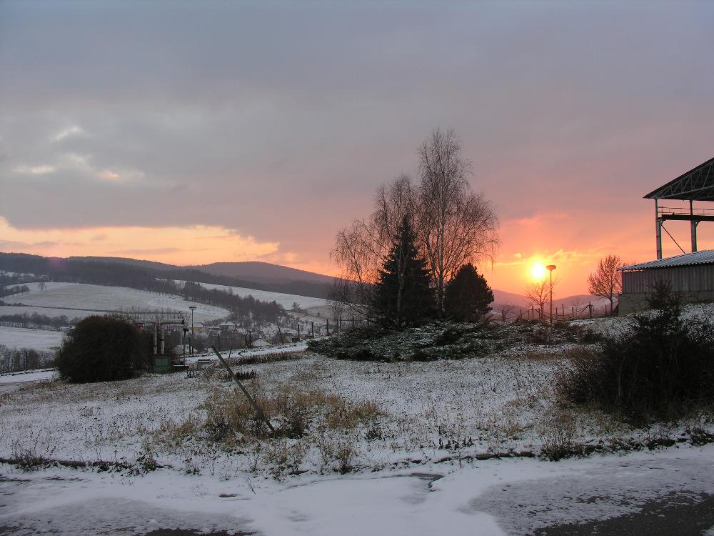 Západ slunce nad Komoncem